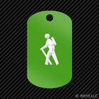 Male Camping Hiker Keychain GI dog tag engraved many colors backpacking