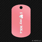 I Love my MK4 Keychain GI dog tag engraved many colors  MK3 MK5 Turntable