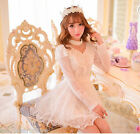 C03-Japan Fashion Princess Cute Kawaii Lolita Chiffon Beads Lace dress Skirts