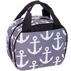 SILVERHOOKS NEW Women's Anchors Nylon Insulated School Lunch Box Tote Bag