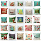Merry Christmas Cushion Cover Pillow Case Festive Home Bed Car Decor Xmas Gifts