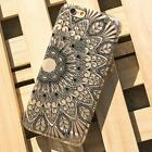 Henna Black Floral Flower Case Cover Plastic Skin for iPhone 6S 4.7inch 5.5inch