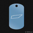 Tennessee Outline Keychain GI dog tag engraved many colors  TN