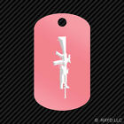 M16 with M203 Keychain GI dog tag engraved many colors M4 SpecOps M-16 M-4