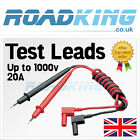 Multimeter Red Black Test Leads - Probe Digital Testing Cable Up to 1000v / 20A