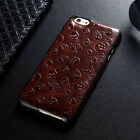 Retro Luxury Skull Genuine Cowhide Leather BackCover Case For iPhone 6s Plus