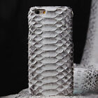 Retro Luxury Genuine Python Snake Skin Leather Cover Case For iPhone 6s Plus