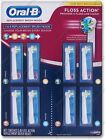 Oral-B FLOSS ACTION ~ 1 to 8 Replacement Brush Heads Toothbrush ~ Braun OralB