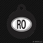 country code ro - Romania Oval Keychain Round with Tab dog engraved many colors country code RO