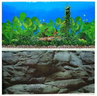 """Aquarium Fish Tank poster 16""""H Background Double sided picture black stone 2."""