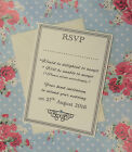 10 x Personalised RSVP cards with envlelopes
