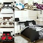 Deluxe Floral Polka Dot Duvet Sets & Pillow Cases Single Double, King Quilt sets