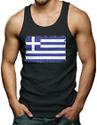 Distressed Greek Flag - Greece Men's Tank Top T-shirt