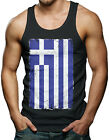 Horizontal Greek Flag - Greece Men's Tank Top T-shirt