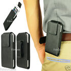 iPhone 6 6S Plus Galaxy Leather Pouch Holster Sleeve Rotate Belt Clip Case Cover