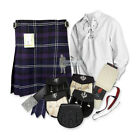PARTY KIT KILT OUTFIT - HERITAGE OF SCOTLAND - WHITE - SIZE & UPGRADE OPTIONS!