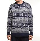 WESC maglione NORTH KNITTED SWEATER BLUE IRIS
