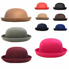 New Lady Vogue Adults Black Cute Trendy Bowler Hat Womens Fashion Hat