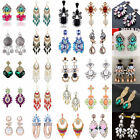 1 Pair Women's Vintage Rhinestone Dangle/Ear Stud Earrings Crystal Jewelry Chain