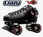 Crazy VXi Roller Skates - Black - NEW Kids & Mens Speed Rollerskates *CLEARANCE*