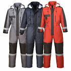 Portwest Hi Vis Waterproof Padded Insulated Winter Coverall Boiler Suit