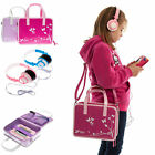 Girls Travel Vinyl PU Handbag Storage Case with Headphones for Tesco Hudl 1 / 2