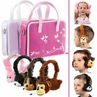 Girls Handbag Bag with Fluffy Animal Headphones for Tesco Hudl 1 / 2