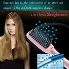 Pro Electric Ionic Hair Straightener Styler Comb Massage Styling Brush LCD 2017