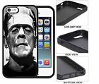 Frankenstein scary cool, Black Rubber Case for iPhone/Galaxy/Note
