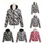 Fashion Mens Camouflage Down Coat 3 Colors Slim Leisure Jacket Outwear Tops FO K