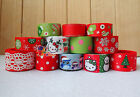 "12YDs Mixed 5/8""&7/8""&1"" Grosgrain Ribbon Bow Xmas Snowflake Bling Scrapbook Lot"