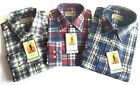 Mens Tom Hagan Check Work Shirt Long Sleeve Pocket Outdoor Wear 100% Cotton