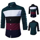 Mens Multi-colored Luxury Long Sleeve Casual Slim Fit Stylish Dress Shirts Tops