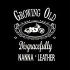 NANNA IN LEATHER - UNISEX & LADYFIT T-SHIRT (sml to 5xl)