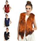 Newest Women Lady Women 100% Real Fur Vest Gilet Waistcoat Coat Jacket Markdown
