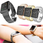 Butterfly Buckle Link Bracelet Stainless Steel Watch Band For Apple iwatch Lot