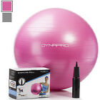 DynaPro Direct Exercise Ball with Pump GYM QUALITY Fitness Ball Color Pink image