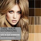 "16""-24"" Best Quality 5A Seamless Tape-in Extensions Remy Human Hair Extensions"