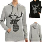 Womens Fashion Loose Hoodie Hooded Long Sleeve deer Casual T Shirt Blouse Tops