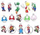 lot Super Mario Metal Charm Pendants DIY Jewelry Making Free shipping