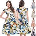 New Hawaii Style Vintage Women Floral Swing Pinup 50s Retro Tea Dress