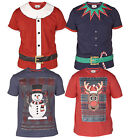 D555 Mens Crew Neck Christmas Short Sleeve T Shirt Size S M L XL XXL