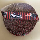 "1"" New England Patriots Red Stripes Grosgrain Ribbon by the Yard (USA SELLER) $6.49 USD on eBay"