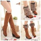 Hottest Women's Winter Thicken Shoes Ankle Snow Boots Knee high Martin Boots