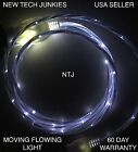 FLOW MOVING LIGHT glow LED data charger cable for iPhone 4 5c 6s 7 8 X MICRO USB