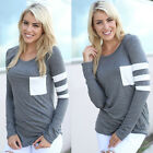 Fashion Women Casual Crochet Pullover Long Sleeve Loose Tops T-Shirt Blouse Nice