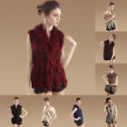 Newest Classic Real Knitted Rabbit Fur Waistcoat/Vest/Gilet with Collar Tassel