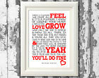 Noah & The Whale Do What You Do Song Lyrics Poster Art Prints Typography