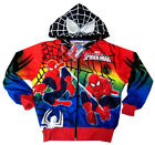 Boys ULTIMATE SPIDER-MAN vibrant hooded sweatshirt jacket Size S-XL Age 8-14 yrs