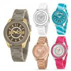 Orologio Donna JUST CAVALLI JUST DREAM Silicone Colorato Swarovski JC Gold Rosè